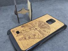 Carcasa Galaxy Note Edge en madera de caoba